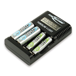 1001-0011, Powerline 4 Light, Carica batterie con display LCD per 1-4 batterie ricaricabili. Marca: Ansmann