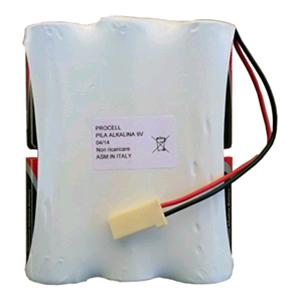 Vendita powerpack9v batteria alcalina 9 volt 12ah per for Porta batteria 9v