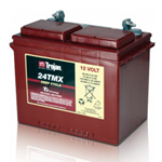 24TMX Trojan, Batteria Trojan Deep Cycle Battery 24TMX, 12V 94Ah. (20hr.) Term. 7, UT