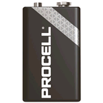 PC1604-BOX210, Procell (by Duracell), Pila alcalina size 9 Volt 6LR61 Box da 210 pz. (sostituisce Duracell Industrial MN1604-IND-BOX210)