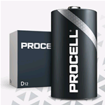 PC1300-BOX10, Procell (by Duracell), Pila alcalina size D Torcia LR20, LR13 1,5V, Box da 10 pz. (sostituisce MN1300-IND-BOX10 Duracell Industrial)