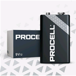 PC1604-BOX10, Procell (by Duracell), Pila alcalina size 9 Volt 6LR61 Box da 10 pz. (sostituisce Duracell Industrial MN1604-IND-BOX10)