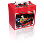 US 2000 XC2, US Battery Deep Cycle Battery 6V 220Ah (20hr.), Flooded Lead Acid (FLA) non-sealed (compatibile Trojan T-105+, T-105)
