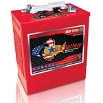 US 305HC XC2, US Battery Deep Cycle Battery 6V 340Ah (20hr.), Flooded Lead Acid (FLA) non-sealed  (compatibile Trojan J305P-AC)